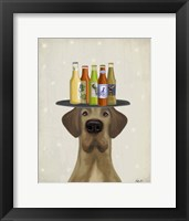 Framed Great Dane Tan Beer Lover