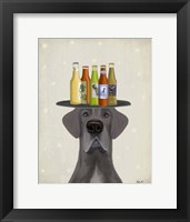 Framed Great Dane Blue Beer Lover