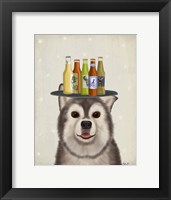 Framed Husky 1 Beer Lover