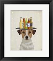 Framed Jack Russell Beer Lover