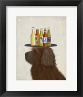 Framed Labradoodle Brown 2 Beer Lover