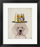 Framed Poodle Beer Lover