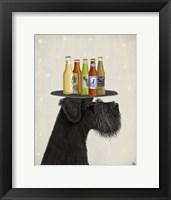 Framed Schnauzer Black Beer Lover