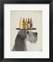 Framed Schnauzer Grey Beer Lover