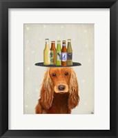Framed Cocker Spaniel Golden Beer Lover