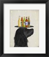 Framed Cocker Spaniel Black Beer Lover