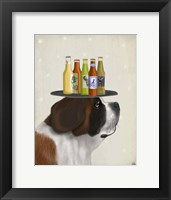 Framed St Bernard Beer Lover