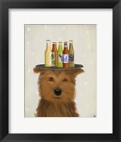 Framed Yorkshire Terrier Beer Lover