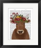 Framed Cow Bohemian 1 Book Print