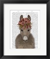 Framed Donkey Bohemian 1 Book Print