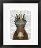 Framed Donkey Bodhisattva Book Print