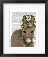 Framed Donkey Bohemian 2 Book Print