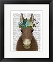 Framed Donkey Bohemian 3 Book Print