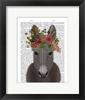 Framed Donkey Bohemian 4 Book Print