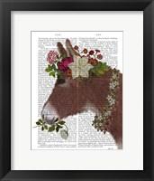 Framed Donkey Bohemian 5 Book Print