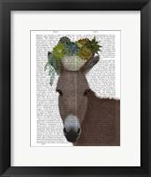 Framed Donkey Succulent Book Print