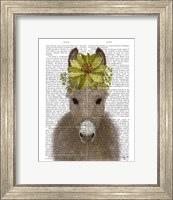 Framed Donkey Sunflower Book Print