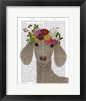 Framed Goat Bohemian 2 Book Print