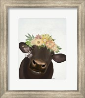 Framed Cow with Flower Crown 1
