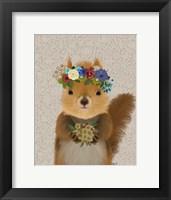 Framed Squirrel Bohemian