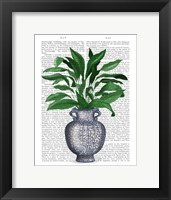 Framed Chinoiserie Vase 2, With Plant Book Print
