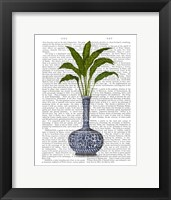Framed Chinoiserie Vase 3, With Plant Book Print