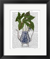 Framed Chinoiserie Vase 4, With Plant Book Print