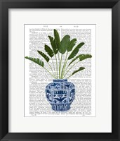 Framed Chinoiserie Vase 5, With Plant Book Print