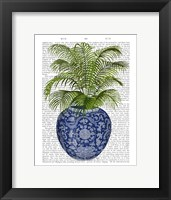 Framed Chinoiserie Vase 6, With Plant Book Print