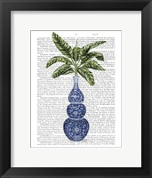 Framed Chinoiserie Vase 7, With Plant Book Print