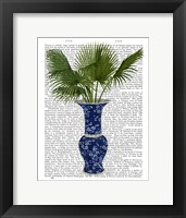 Framed Chinoiserie Vase 8, With Plant Book Print