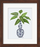 Framed Chinoiserie Vase 1, With Plant