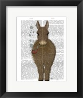 Framed Donkey Bubble Pipe, Full Book Print
