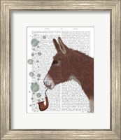 Framed Donkey Bubble Pipe, Portrait Book Print