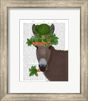 Framed Donkey Carrot Hat Book Print