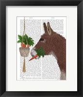 Framed Donkey Lunch Book Print
