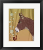 Framed Donkey Bubble Pipe, Portrait