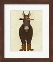 Framed Donkey Cowboy