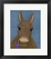 Framed Donkey Purple Flower