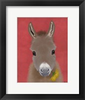 Framed Donkey Yellow Flower