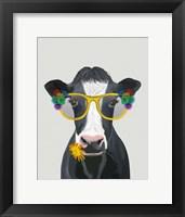 Framed Cow and Flower Glasses