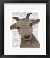 Framed Funny Farm Goat 2 Book Print