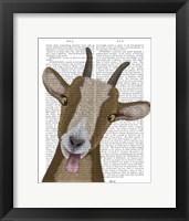Framed Funny Farm Goat 3 Book Print