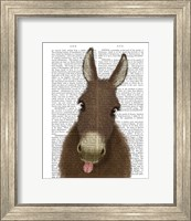 Framed Funny Farm Donkey 1 Book Print