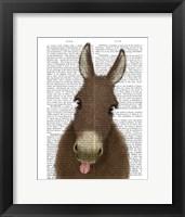 Framed Funny Farm Donkey 1 Book Print