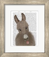 Framed Funny Farm Donkey 2 Book Print