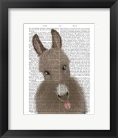 Framed Funny Farm Donkey 2 Book Print