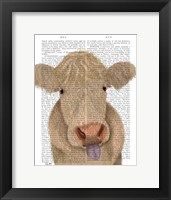 Framed Funny Farm Cow 1 Book Print