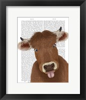 Framed Funny Farm Cow 2 Book Print