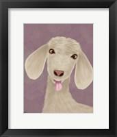 Framed Funny Farm Goat 1